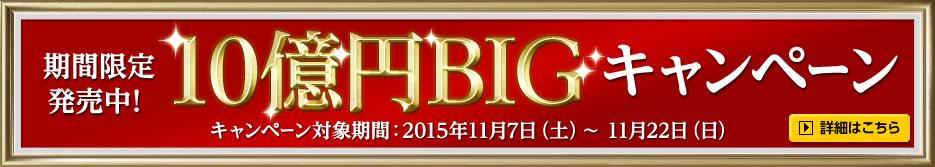 ≪10億円BIGキャンペーン≫ →詳細はバナーをクリック!